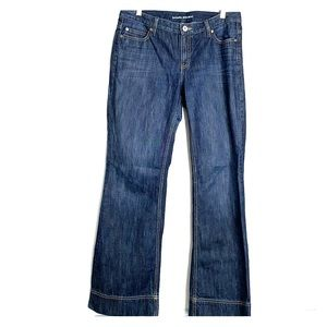 BANANA REPUBLIC • Contoured Boot Cut Dark Jeans